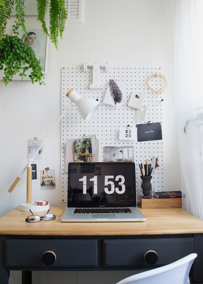 Scandinavian Home Office by Curate & Display