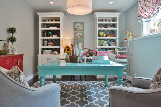 Traditional Home Office & Library by Set The Stage