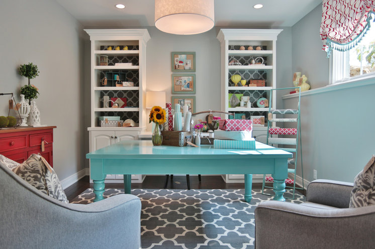 Traditional Home Office by Set The Stage
