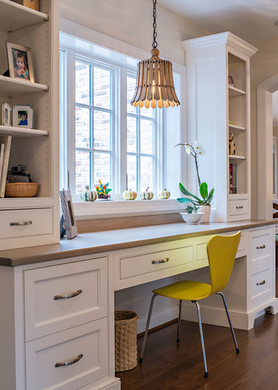 Traditional Home Office by Benhoff Builders Inc