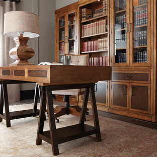 Home office - traditional home office idea in Dallas