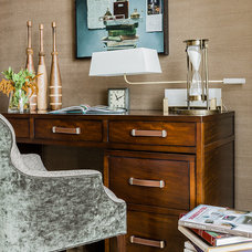 Traditional Home Office by Terrat Elms Interior Design