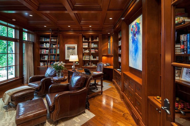 Traditional Home Office by Peter A. Sellar - Architectural Photographer