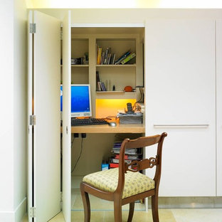 Minimalist home office photo in London