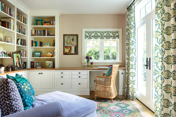 Beach Style Home Office by Alison Kandler Interior Design
