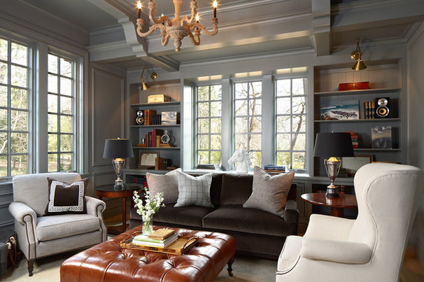 Traditional Home Office by Murphy & Co. Design