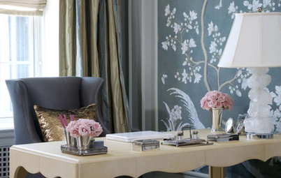 Hand-Painted Wallpaper Brings High-End Artistry to Rooms