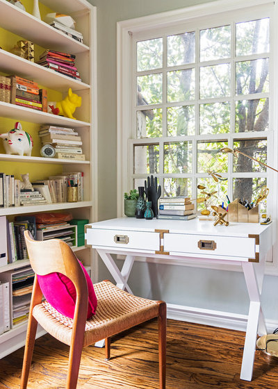 home designed. Eclectic Home Office by Carolyn Reyes Houzz Tour  A Colorful L Designed Among Friends
