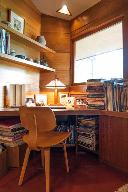 midcentury home office by Adrienne DeRosa