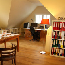 Traditional Home Office by Holly Marder