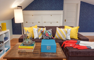 A Family Steps Up to a Cheerful New Attic