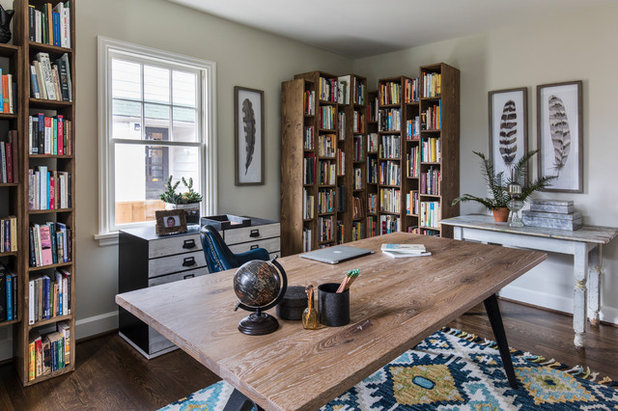 Beach Style Home Office by Angela Todd Studios | Portland, OR