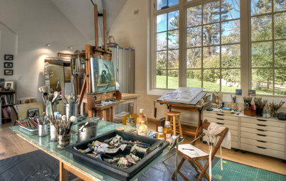 Light-Filled Artist's Studio in the Pennsylvania Countryside