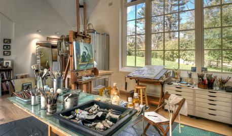 Light-Filled Artist's Studio in the Pennsylvania Countryside