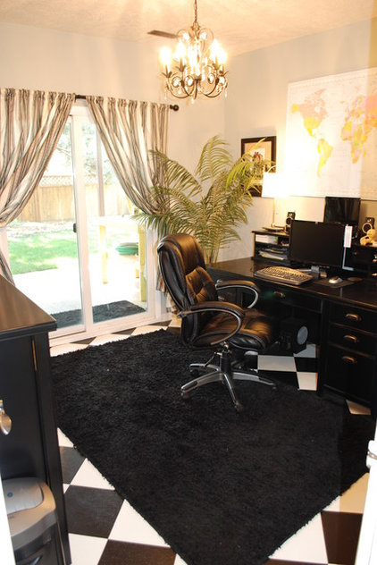 Traditional Home Office by Judith Balis Interiors