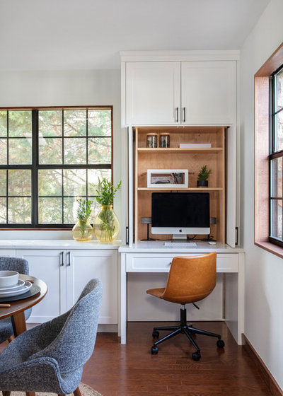 Transitional Home Office by Hello Kitchen