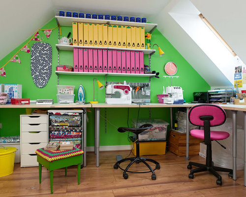 Attic Sewing Room | Houzz