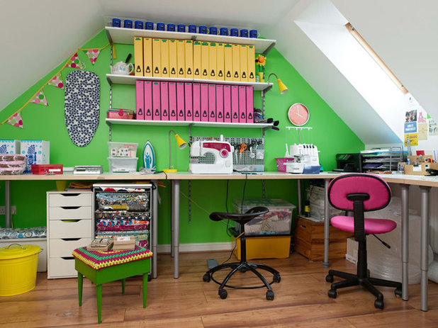Contemporary Home Office & Library by Hunkydory Home