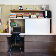 Contemporary Home Office by Dresner Design | Chicago Custom Kitchens Cabinets