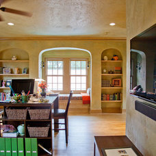 Mediterranean Home Office by English Heritage Homes of Texas