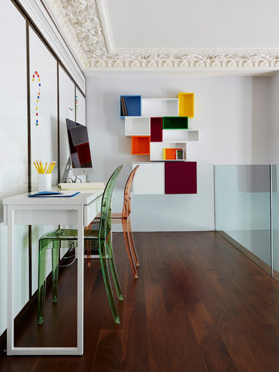 Contemporary Home Office & Library by Violet & George