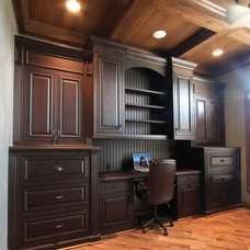 Traditional Home Office by Maple Ridge Cabinetry