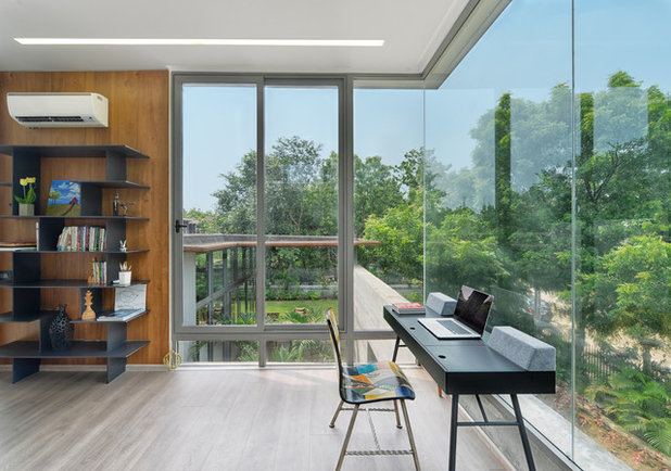 Contemporary Home Office by S A K Designs
