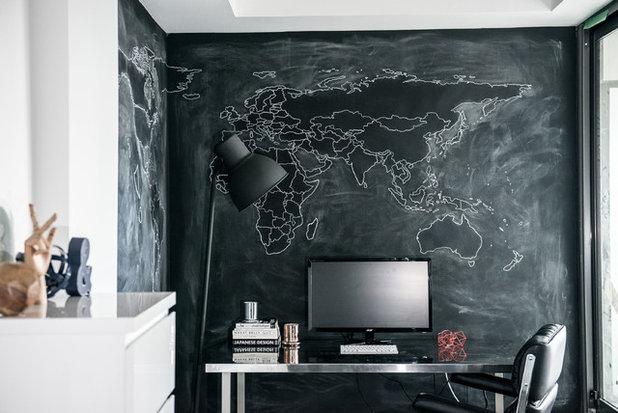 Industriel Bureau à domicile by LUX Design   Interior Design Build