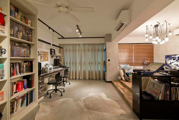 Home Office & Library by LS2 Design & Construction