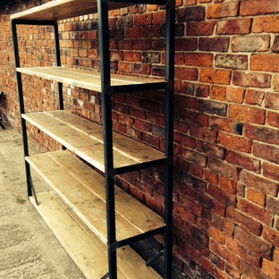 Industrial Mill Reclaimed Wood Shelving Unit