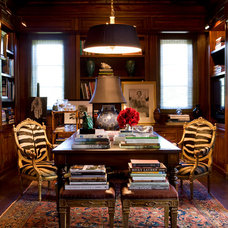 Traditional Home Office by Tim Clarke Design