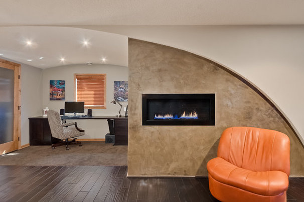 Contemporary Home Office by Finished Basement Company