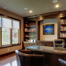 Contemporary Home Office by Maillot Homes