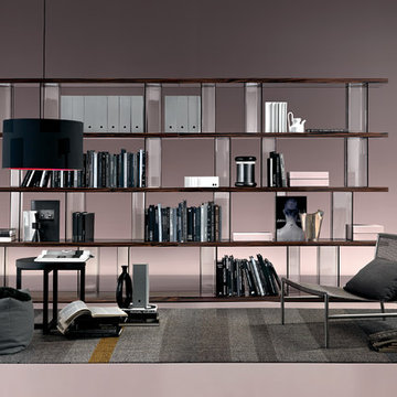 Inori Glass Bookcase by Fiam Italia