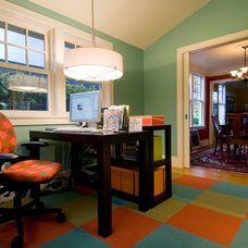 Eclectic Home Office by live-work-play