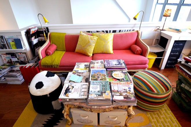 Eclectic Home Office by Nicole Lanteri Design