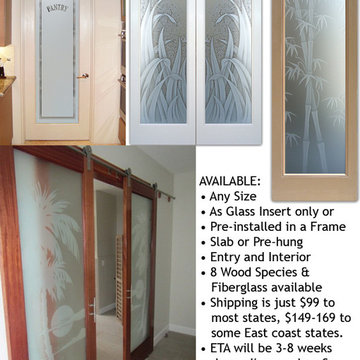 Interior Glass Doors with Obscure Frosted Glass - Interior Doors