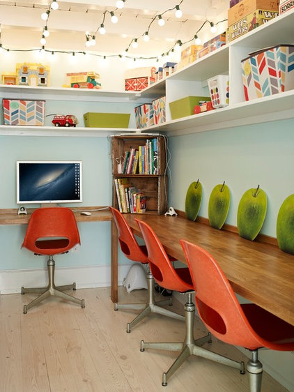 Eclectic Home Office by Renewal Design-Build