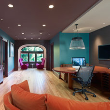 Eclectic Home Office by Cody Anderson Wasney Architects, Inc.