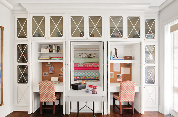 Traditional Home Office & Library by Merrill Construction Group