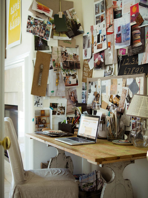 Inspiration For A Transitional Freestanding Desk Home Office Remodel In San  Francisco With White Walls And
