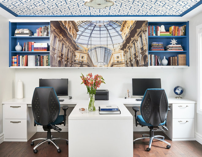Transitional Home Office by MAJ Interiors