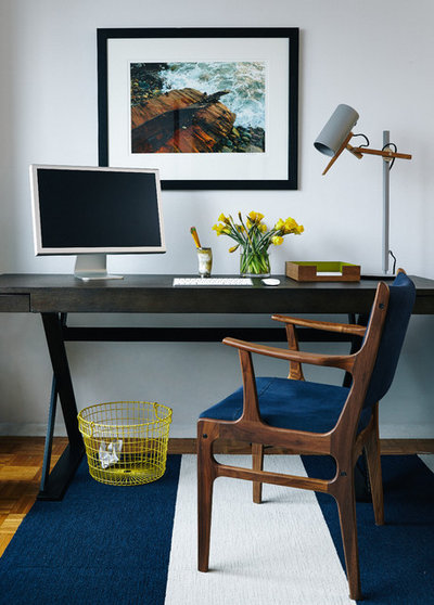 Midcentury Home Office by Common Bond Design