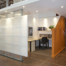 Contemporary Home Office by Uribe Studio Inc.