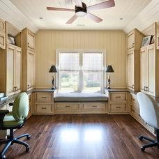 Traditional Home Office by MW Hunter Custom Design LLC