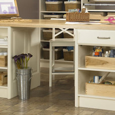 Eclectic Home Office by Wellborn Cabinet, Inc.