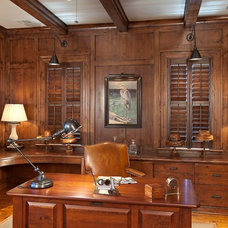 Traditional Home Office by Phillip W Smith General Contractor, Inc.
