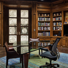 Traditional Home Office by JAUREGUI Architecture Interiors Construction