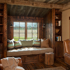 Rustic Home Office by Van Bryan Studio Architects