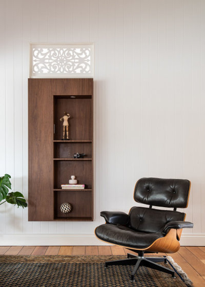Midcentury Home Office by JMK Joinery Pty Ltd